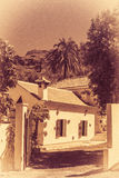 家在Fataga 免版税图库摄影