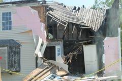 家在Hurricane毁坏的弗吉尼亚艾琳2011年 库存图片