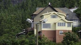 家在Ketchikan,阿拉斯加 免版税库存照片