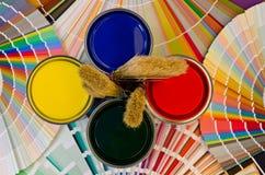 画家工具。 免版税库存图片