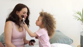 家庭、母亲和女儿和构成 股票录像