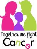 家庭一起战斗癌症 皇族释放例证