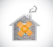家庭乐队援助固定解答概念例证 免版税库存图片