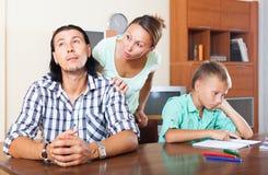 家庭争吵 免版税库存照片