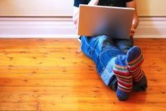 家庭互联网 图库摄影