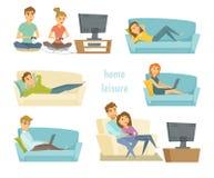 家庭休闲传染媒介 向量例证