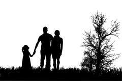 家庭传染媒介剪影  免版税库存照片