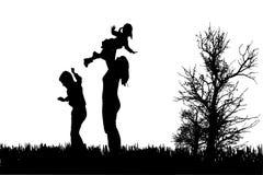 家庭传染媒介剪影  免版税图库摄影