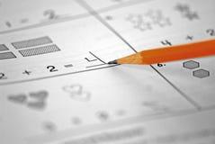 家庭作业算术 图库摄影