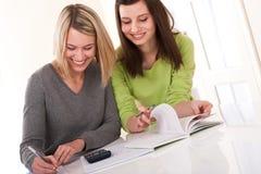 家庭作业系列写学员的学员二 免版税库存图片