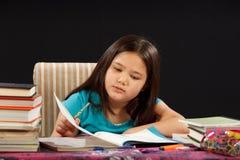 家庭作业读取 库存照片