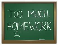 家庭作业重点。 图库摄影