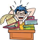 家庭作业更多没有 免版税库存图片