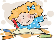 家庭作业 免版税库存图片