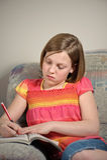 家庭作业 图库摄影