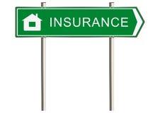 家庭保险标志 免版税库存图片