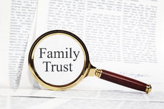 家庭信任概念 图库摄影