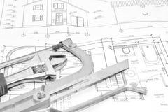 家庭修理 结构 图库摄影