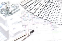家庭修理 结构 免版税库存图片