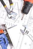 家庭修理 结构 免版税图库摄影