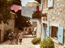 家庭假日在克罗地亚 免版税库存图片