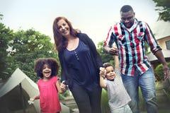 家庭假日活动统一性关系概念 库存照片