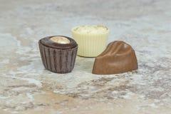 家庭做的巧克力Pices  免版税库存照片