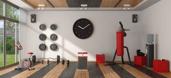 家庭健身房用运动器材 图库摄影