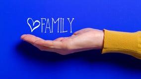 家庭关心概念互联网 免版税库存图片