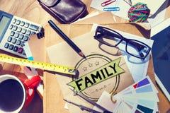 家庭关系育儿一代概念 图库摄影