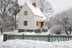 家庭冬天 库存图片