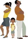 家庭冲突影响孩子 免版税库存图片