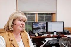 家庭办公妇女 免版税图库摄影