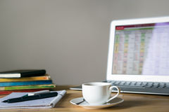 家庭办公室书桌 图库摄影