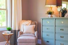 家庭卧室就座区域 免版税库存图片