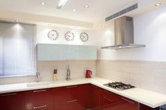 家庭厨房现代新 免版税库存照片