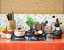 家庭厨房 免版税库存图片