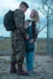 家庭和战士军事的 免版税库存照片