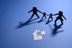 家庭和竖锯房子 免版税库存照片
