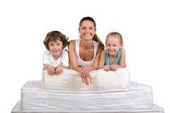 家庭和许多床垫 库存图片