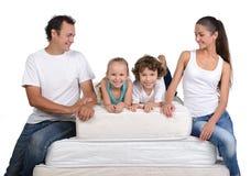 家庭和许多床垫 免版税库存图片