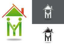 家庭商标概念/例证 免版税库存图片