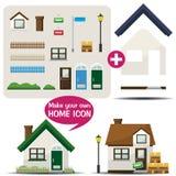 家庭图标制造商 库存图片