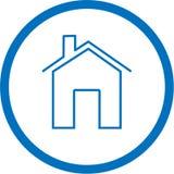 家庭图标向量 免版税库存图片