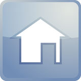 家庭图标定位 库存照片