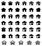 家庭图标集 免版税图库摄影