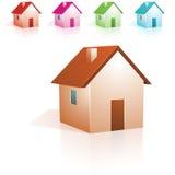 家庭图标 免版税库存图片