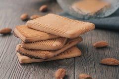 家庭土气饼干用杏仁 库存照片