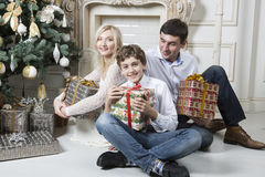 家庭圣诞节 免版税库存照片