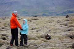 家庭在冰岛 免版税库存图片